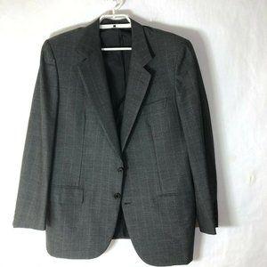 BRIONI gray Striped  WOOL Jacket sz 48 roma